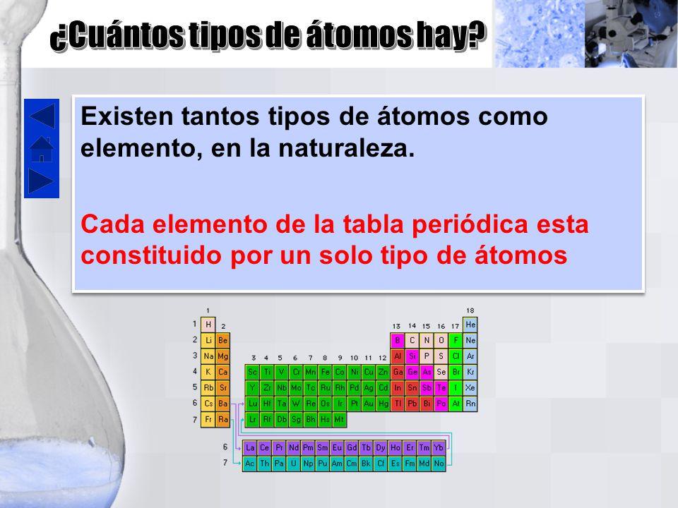cuntos tipos de tomos hay - Tabla Periodica De Los Elementos Atomos
