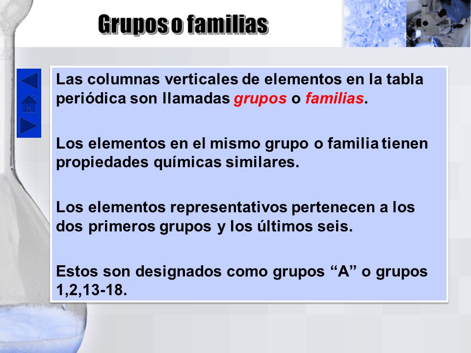 Tabla peridica ppt video online descargar grupos o familias las columnas verticales de elementos en la tabla peridica son llamadas grupos o urtaz Choice Image