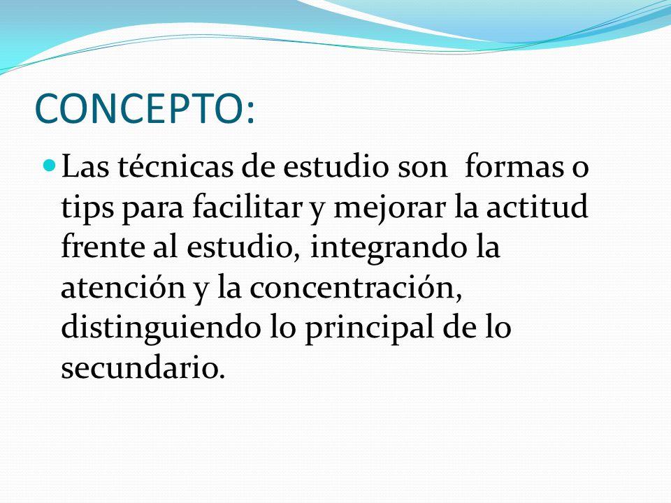 T cnicas de estudio ppt descargar - Mejorar concentracion estudio ...