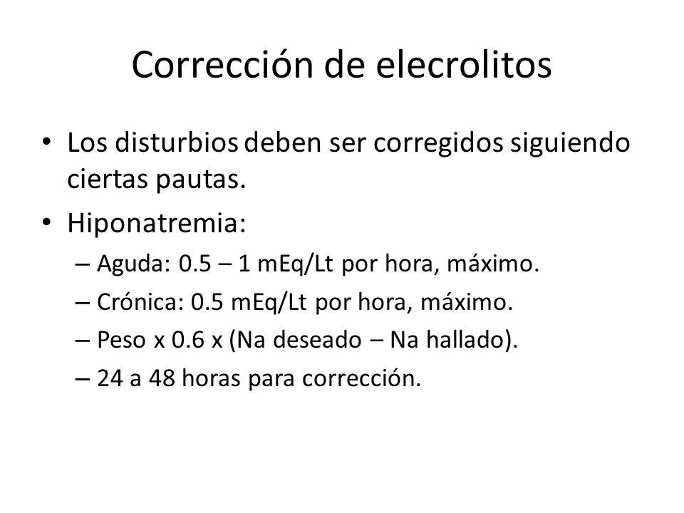 Corrección de elecrolitos