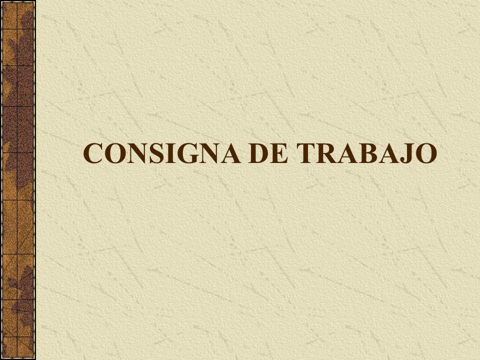 CONSIGNA DE TRABAJO