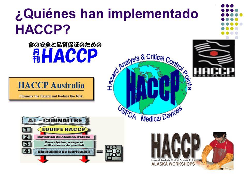 ¿Quiénes han implementado HACCP