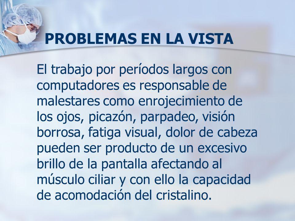 PROBLEMAS EN LA VISTA