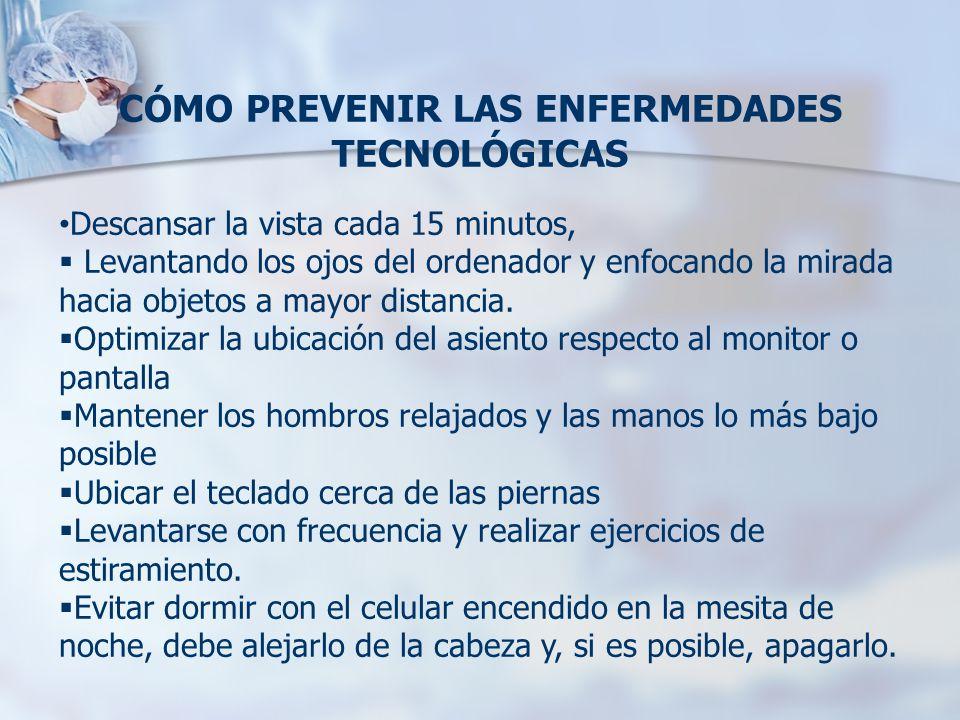CÓMO PREVENIR LAS ENFERMEDADES TECNOLÓGICAS