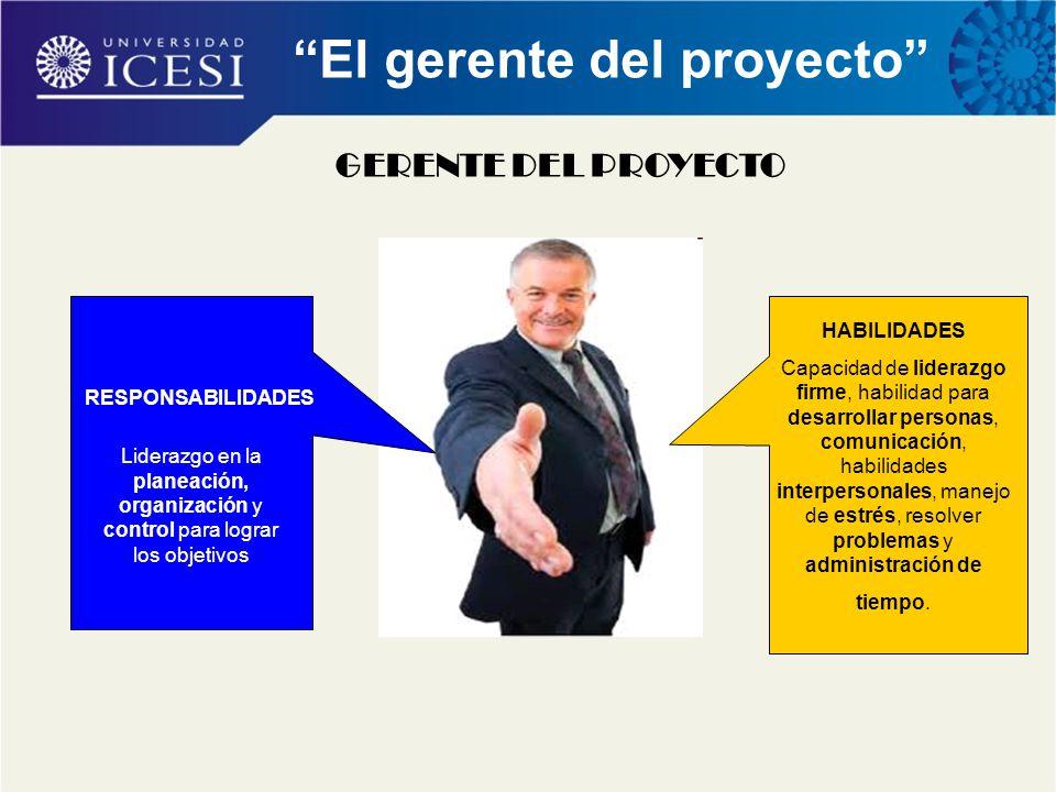 El gerente del proyecto