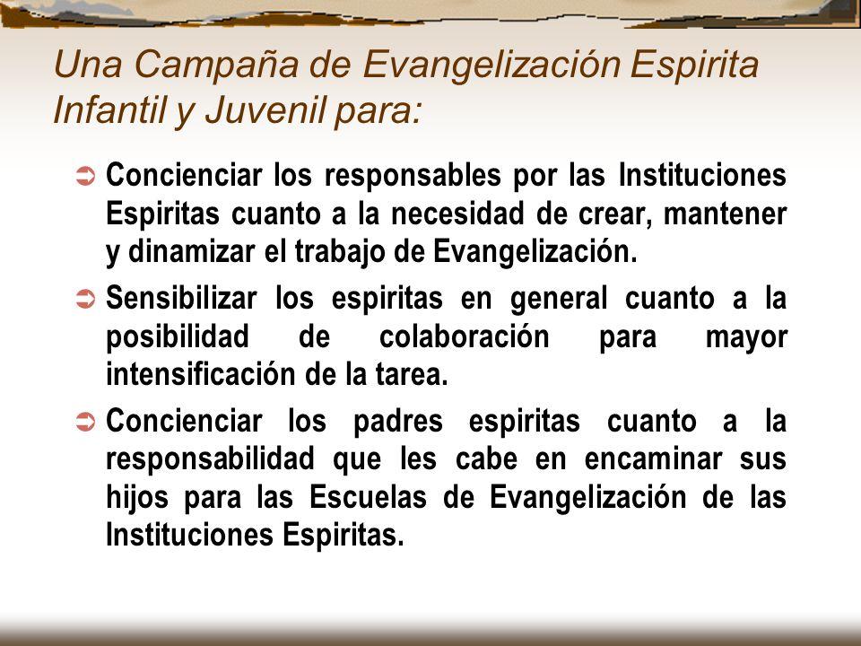 Una Campaña de Evangelización Espirita Infantil y Juvenil para: