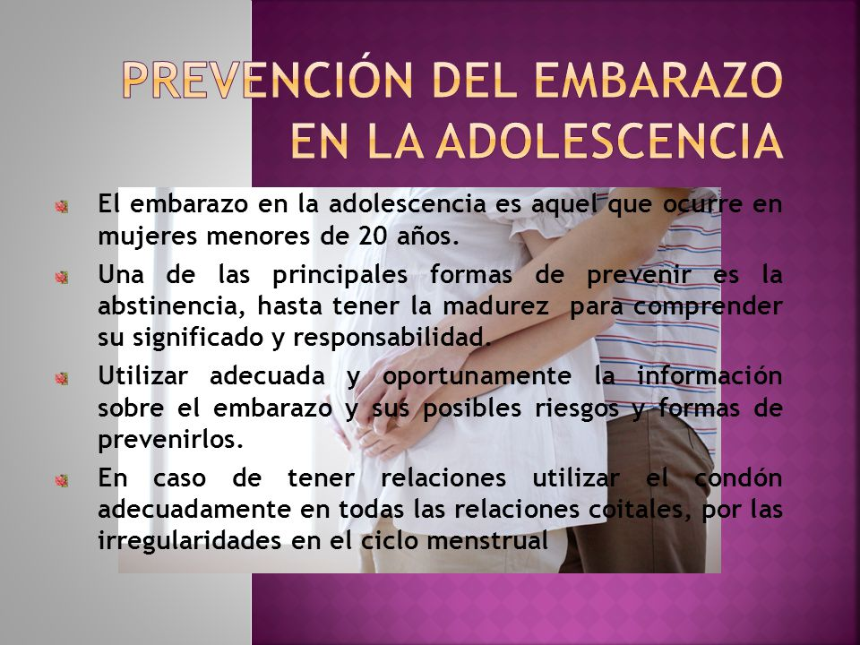 Prevención del embarazo en la adolescencia ppt video online.