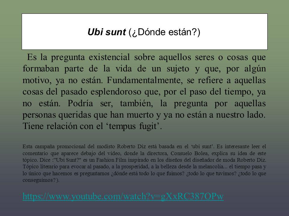 Ubi sunt (¿Dónde están )