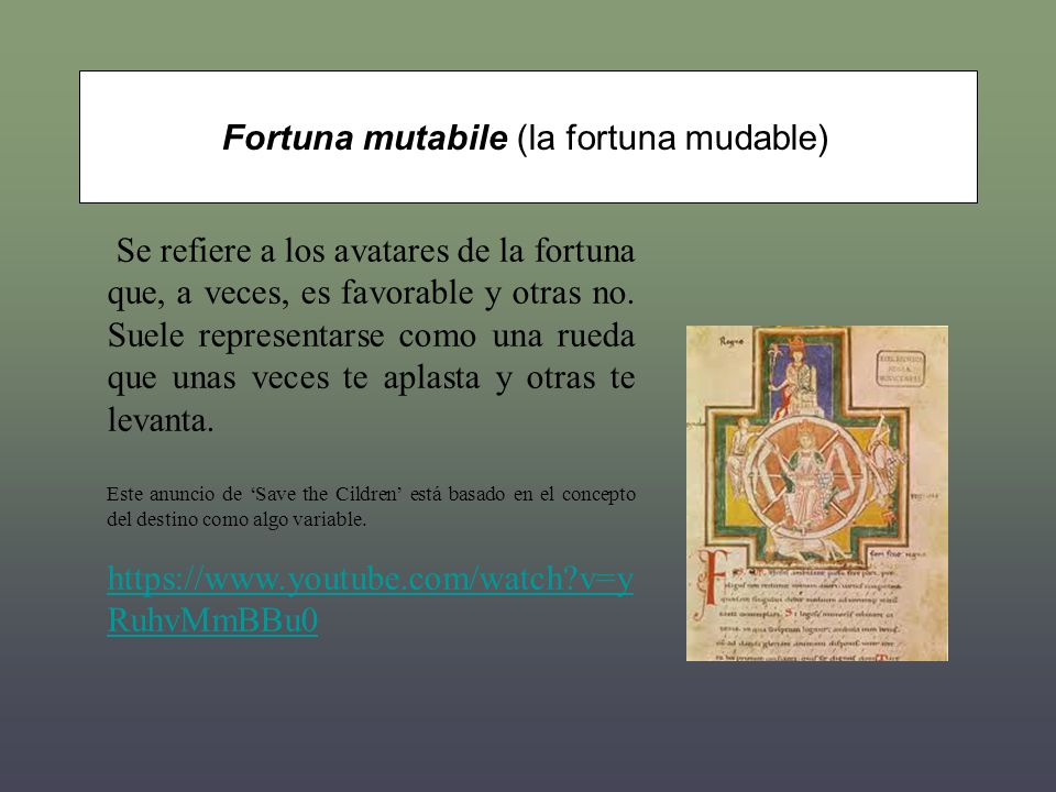 Fortuna mutabile (la fortuna mudable)
