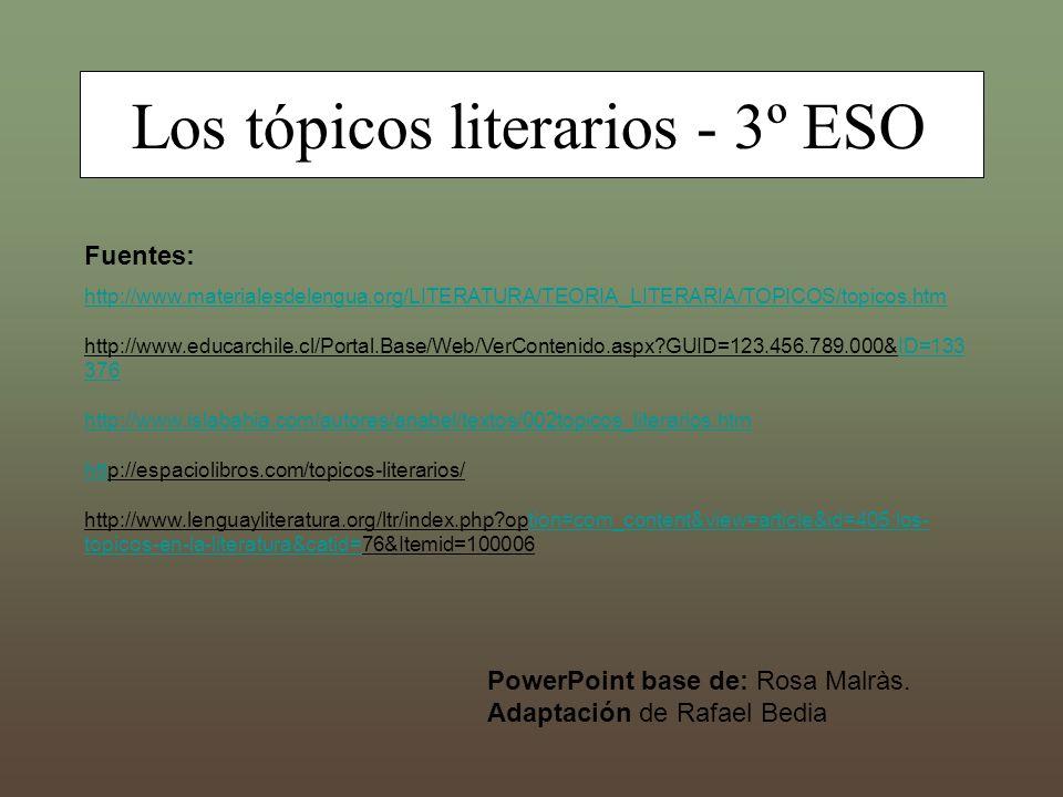 Los tópicos literarios - 3º ESO