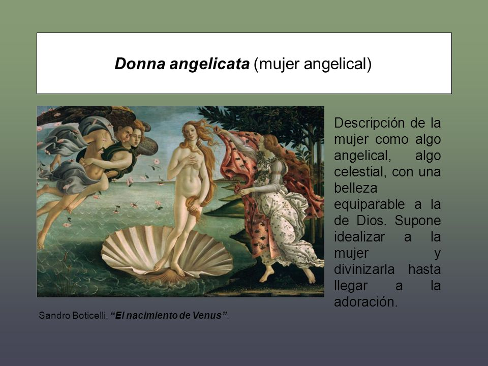 Donna angelicata (mujer angelical)