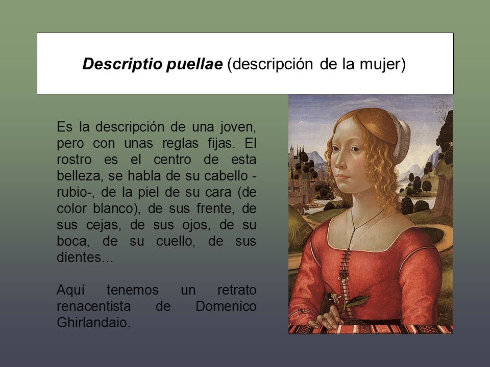 Descriptio puellae (descripción de la mujer)