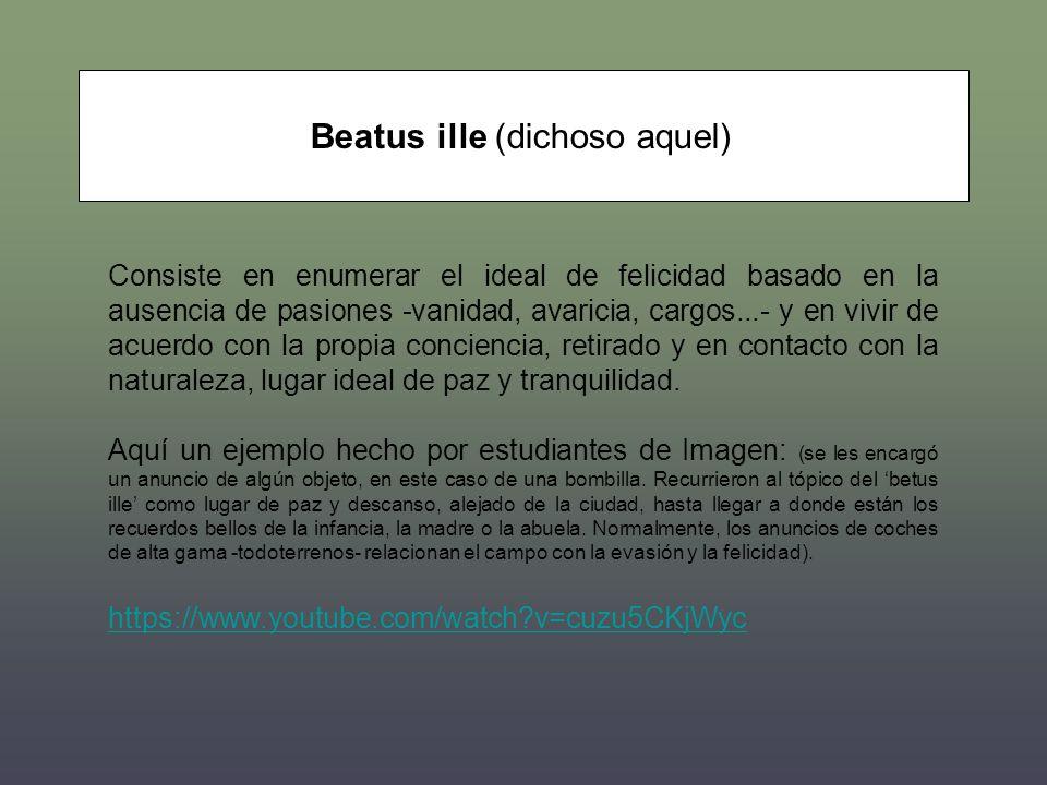 Beatus ille (dichoso aquel)