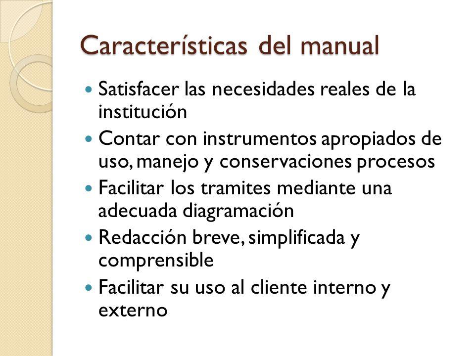 Características del manual
