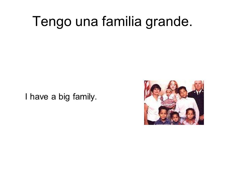 Tengo una familia grande.
