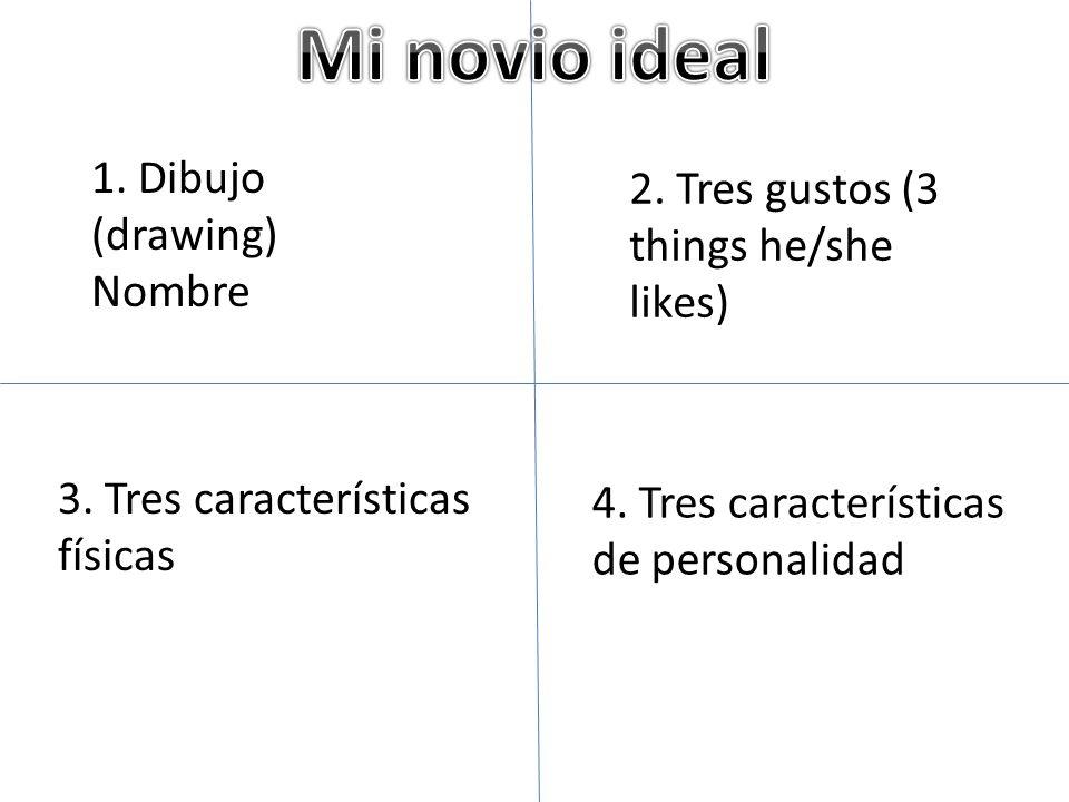 Mi novio ideal 1. Dibujo (drawing)