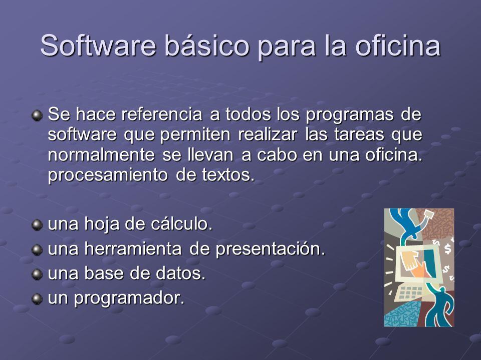 Software básico para la oficina