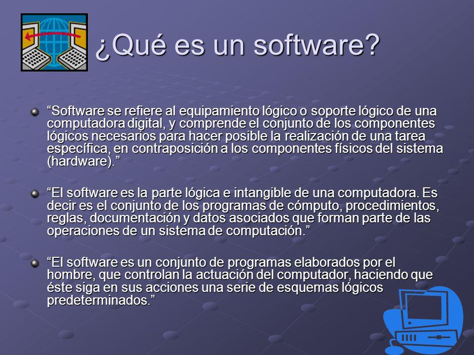 ¿Qué es un software