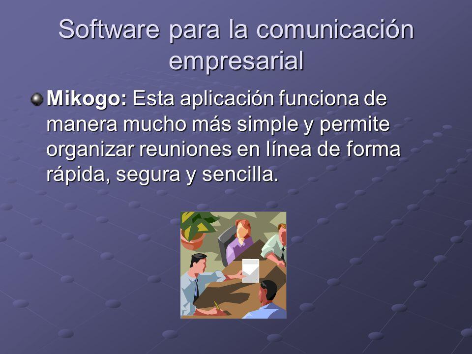 Software para la comunicación empresarial