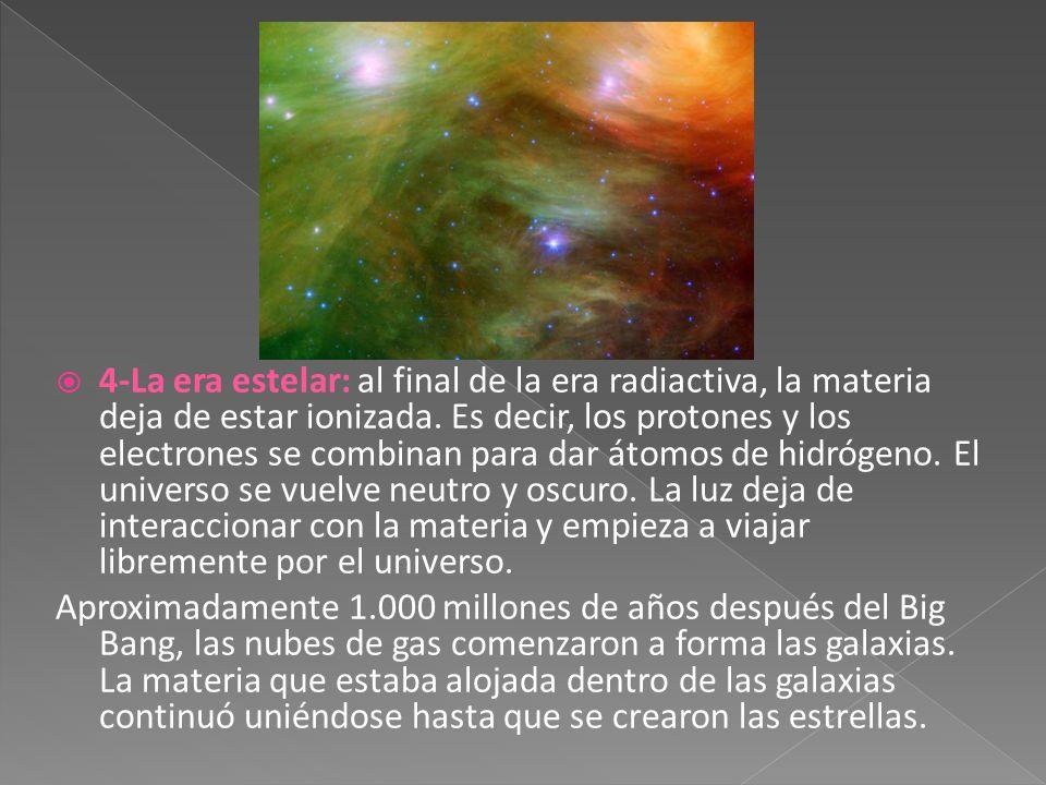 Resultado de imagen de El Universo y la era de la materia