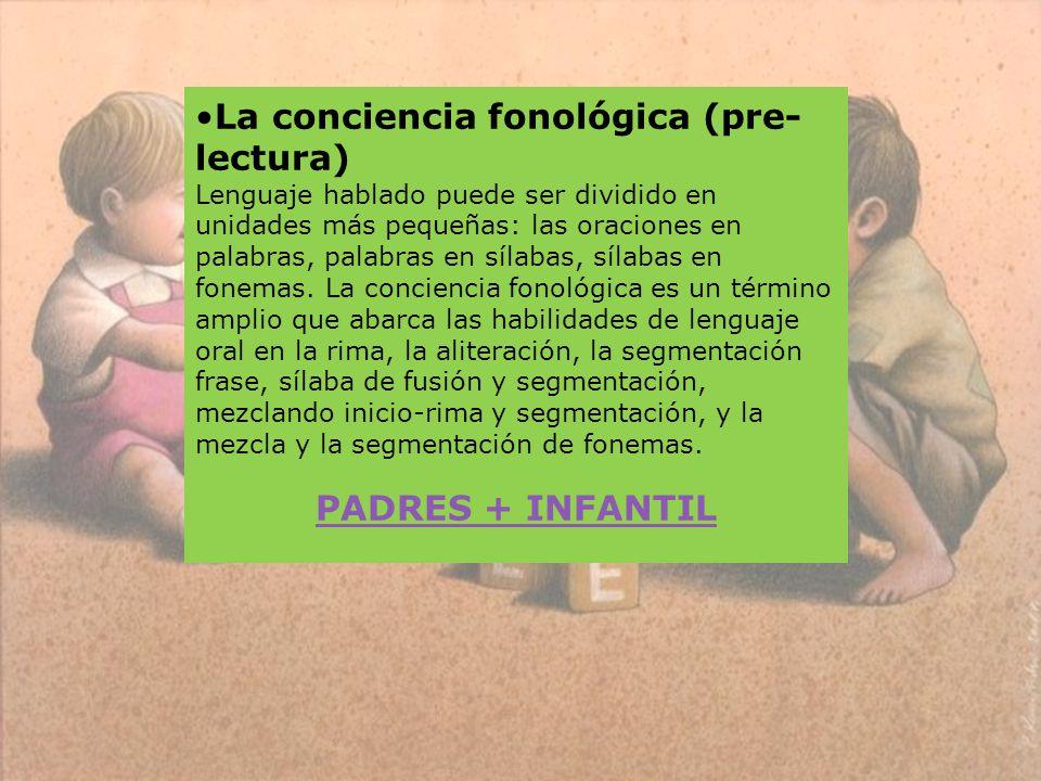 La conciencia fonológica (pre-lectura)