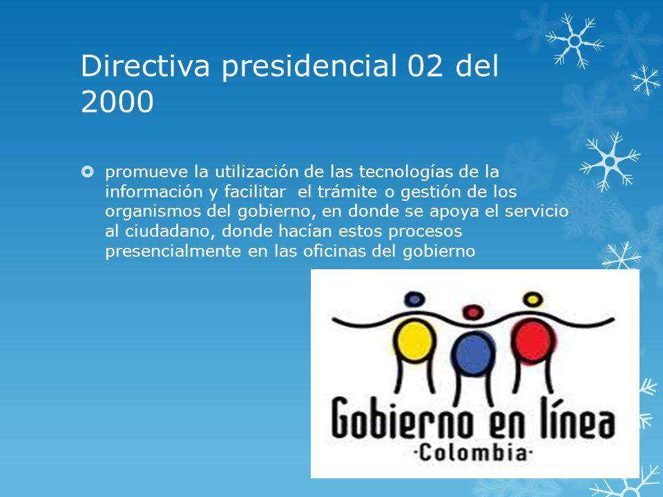 Directiva presidencial 02 de 2000 decreto 2150 de 1995 ley for Oficina del ciudadano