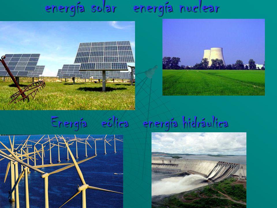 Energías Energía Eólica Energía Hidráulica Energía
