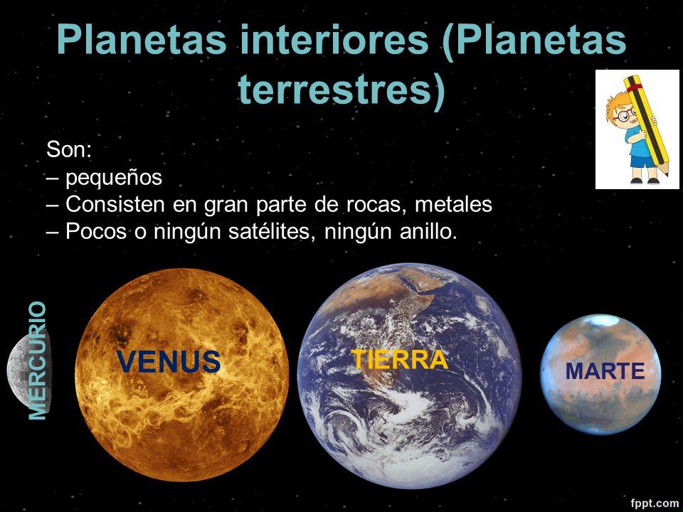 El sistema solar ppt video online descargar - Caracteristicas de los planetas interiores ...