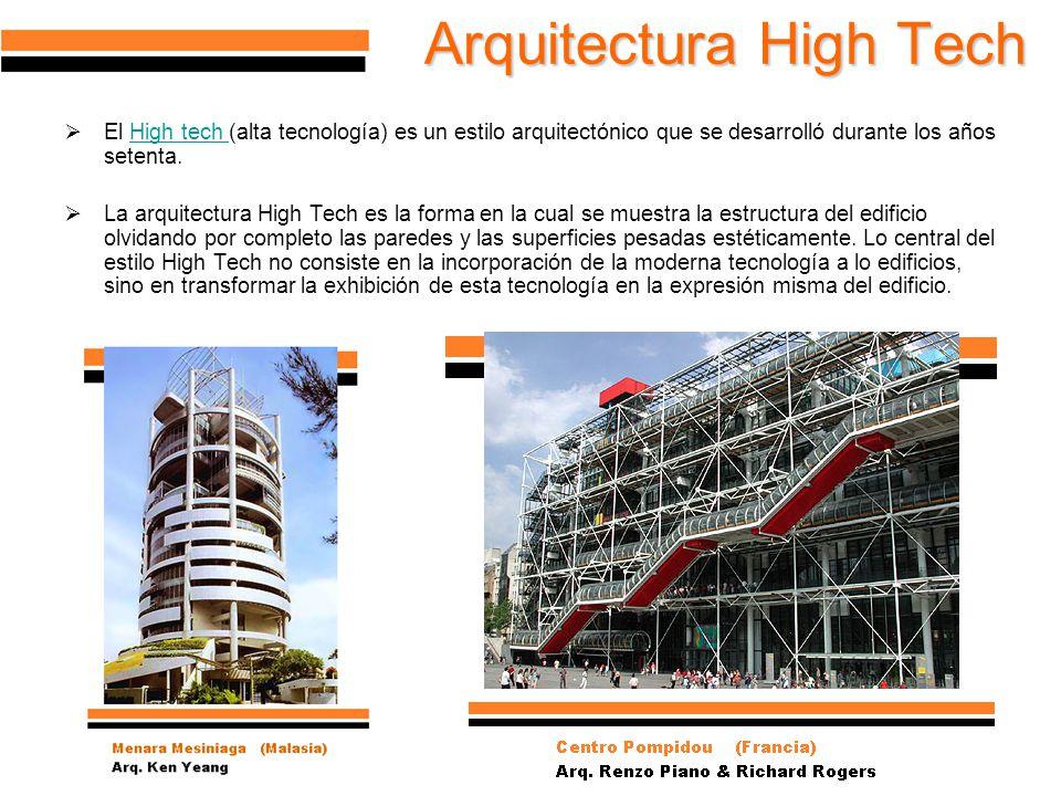U a n l facultad de arquitectura ppt descargar for High tech arquitectura