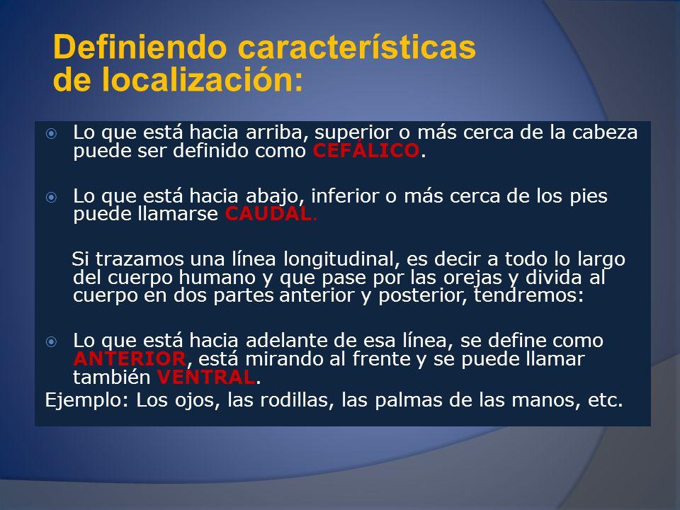 Definiendo características de localización: