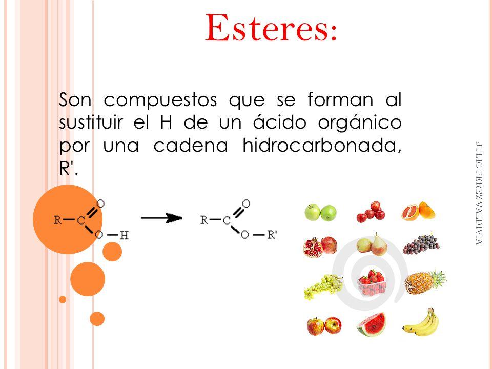 Compuestos organicos esteres esteres y las frutas for Como se cocinan los percebes