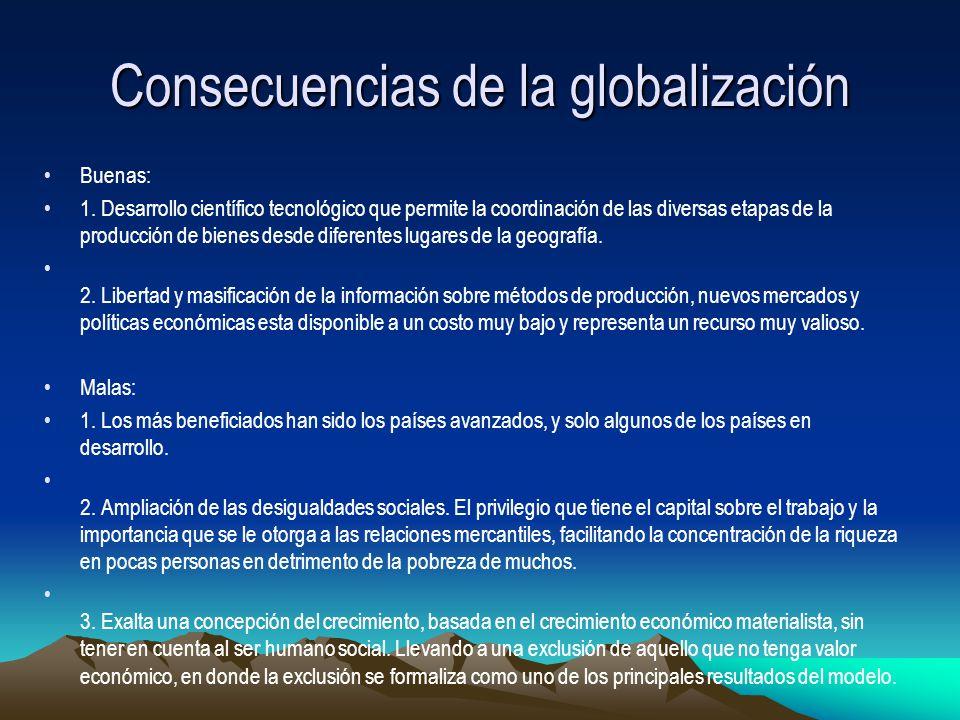 Consecuencias sociales de la globalizacion en mexico