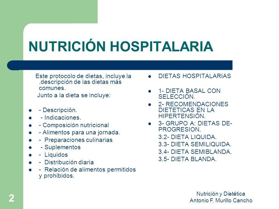 NUTRICIÓN HOSPITALARIA - ppt descargar
