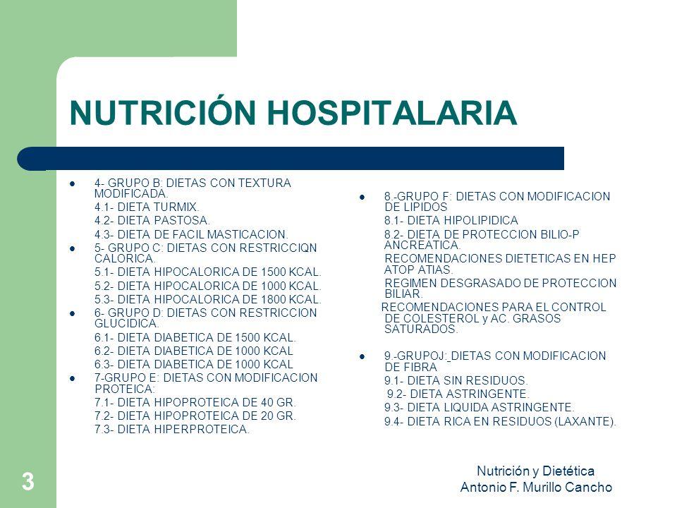 NUTRICIÓN HOSPITALARIA