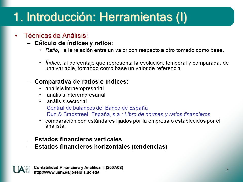 Tema 2 introducci n al an lisis de estados financieros for Analisis de balances