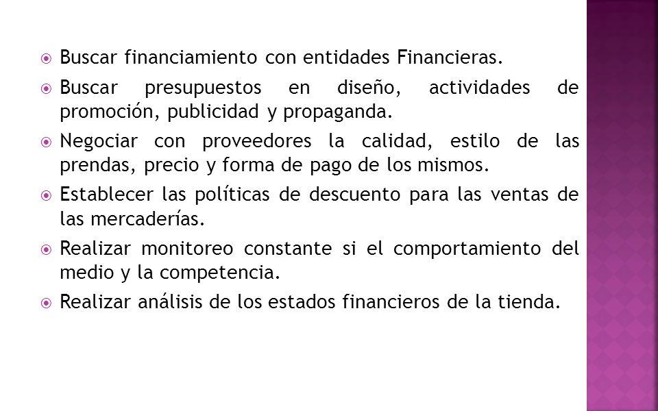 Buscar financiamiento con entidades Financieras.