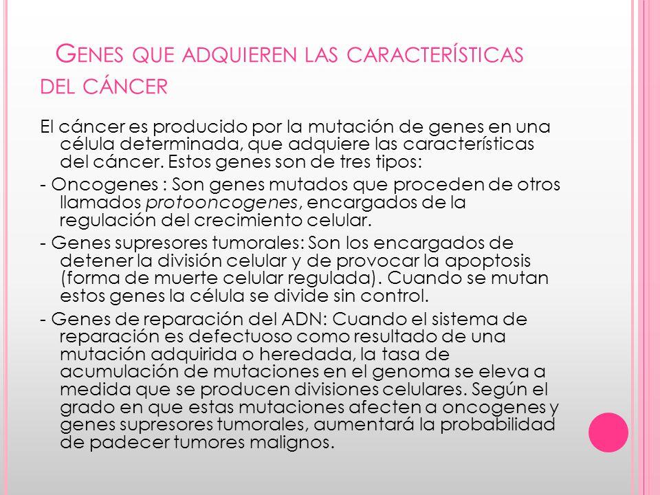 Genes que adquieren las características del cáncer