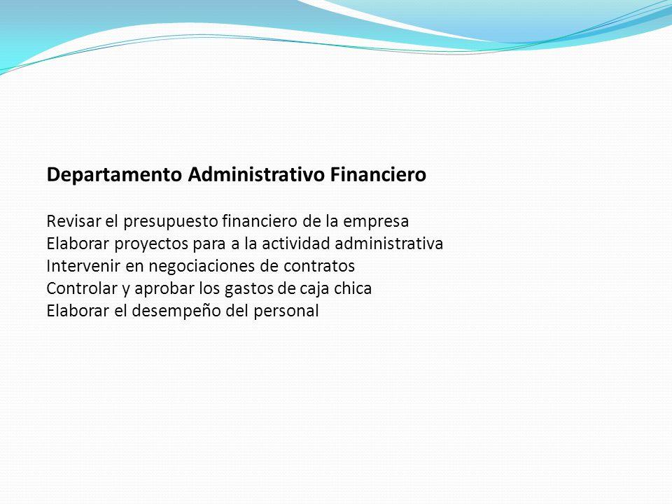 Departamento Administrativo Financiero