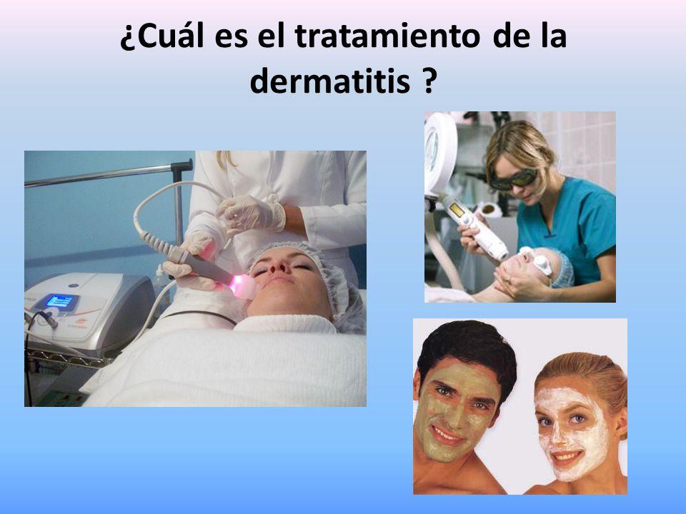 ¿Cuál es el tratamiento de la dermatitis