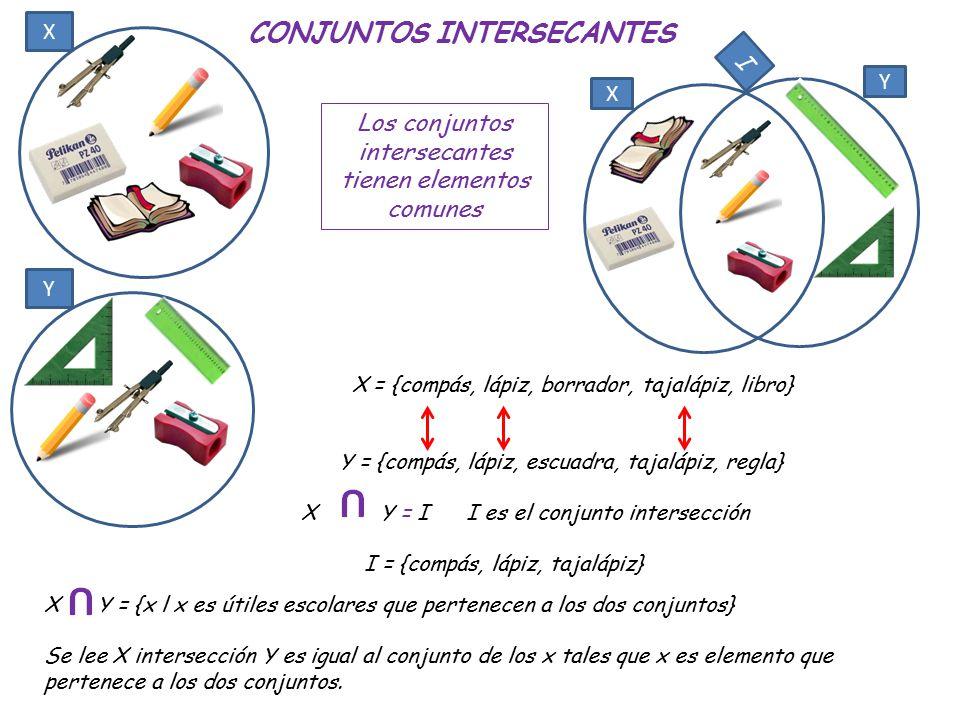CONJUNTOS INTERSECANTES