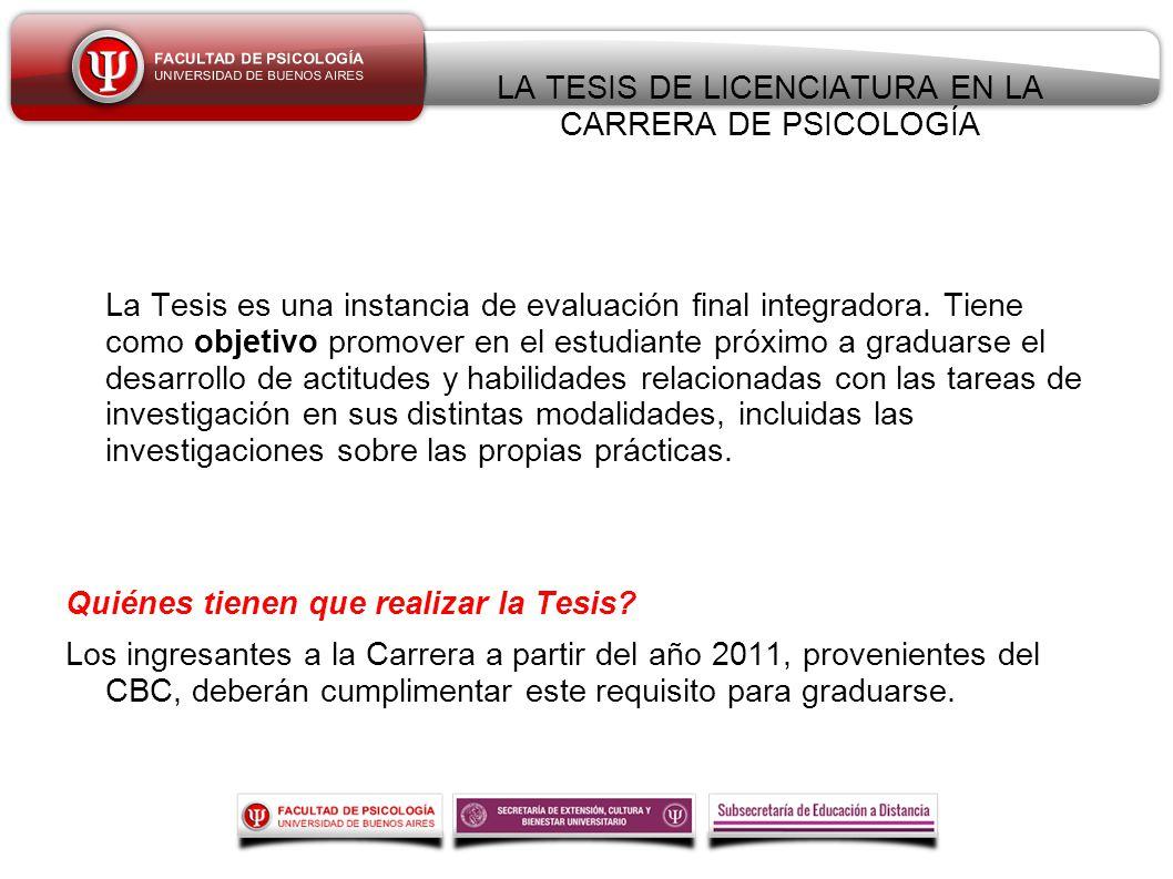 El tutor de Tesis de Licenciatura : - ppt descargar