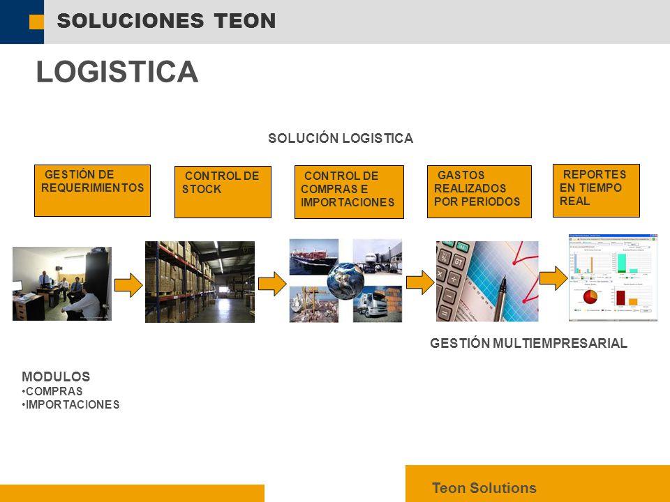 LOGISTICA SOLUCIONES TEON Teon Solutions SOLUCIÓN LOGISTICA