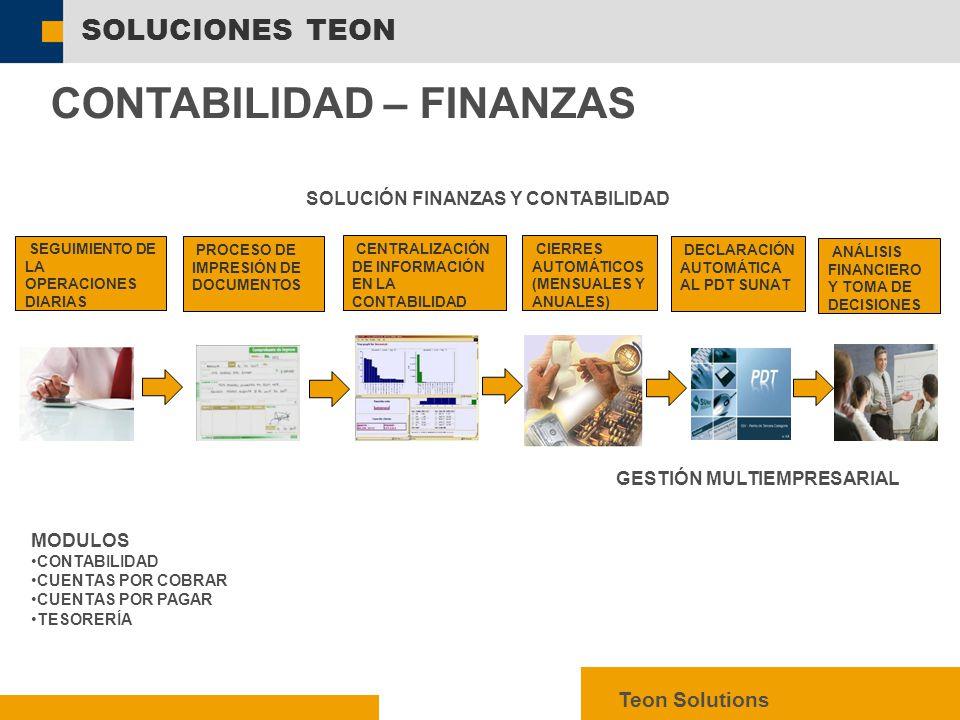 SOLUCIÓN FINANZAS Y CONTABILIDAD