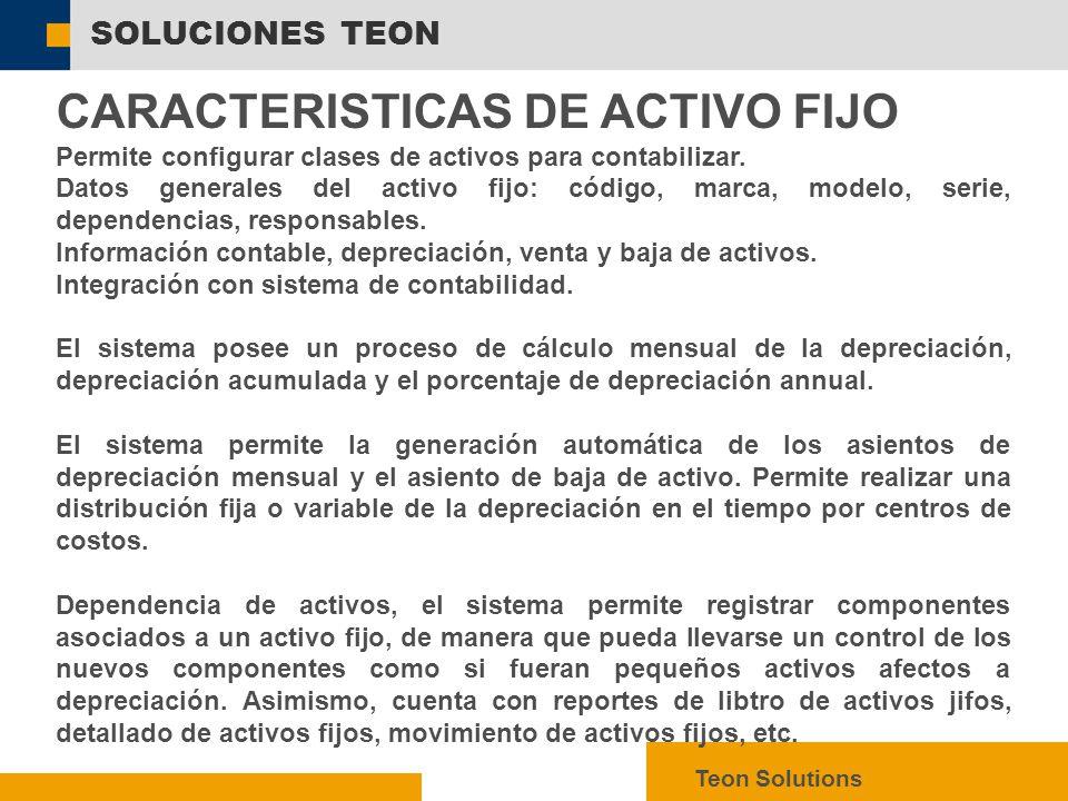 CARACTERISTICAS DE ACTIVO FIJO