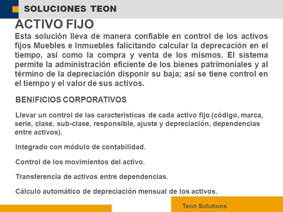 ACTIVO FIJO SOLUCIONES TEON