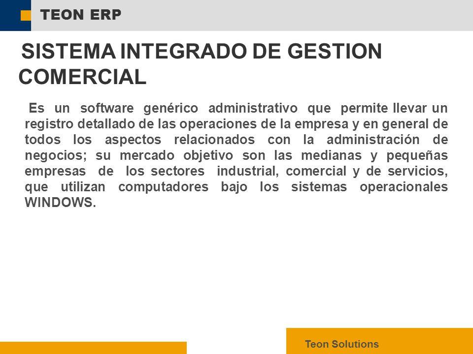 SISTEMA INTEGRADO DE GESTION COMERCIAL