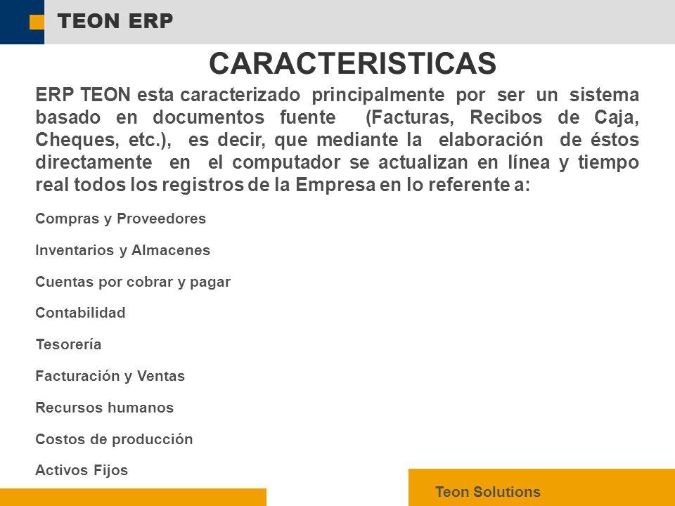 CARACTERISTICAS TEON ERP
