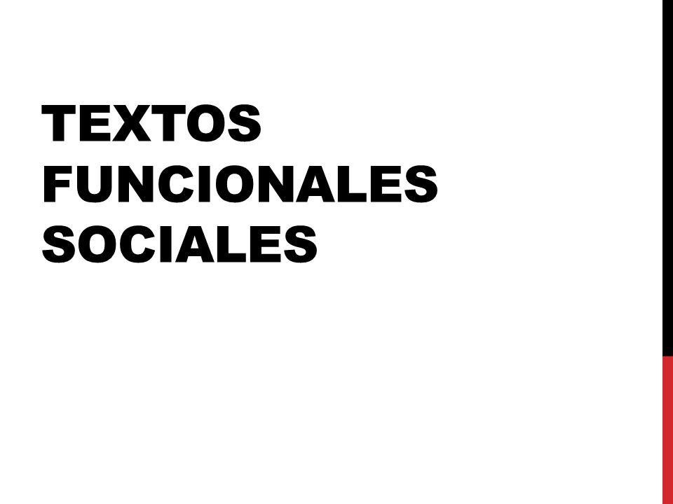 Textos funcionales Sociales