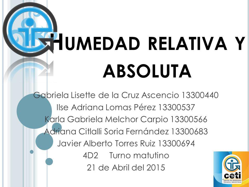 Humedad relativa y absoluta ppt video online descargar - Humedad relativa espana ...