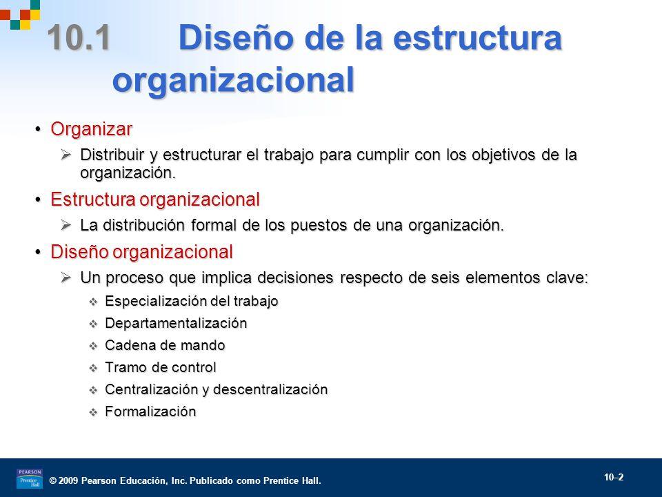 estructura y diseño organizacional - ppt descargar